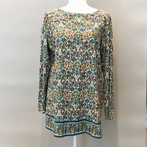 NWT J. Jill Knit Tunic in Peacock Size L